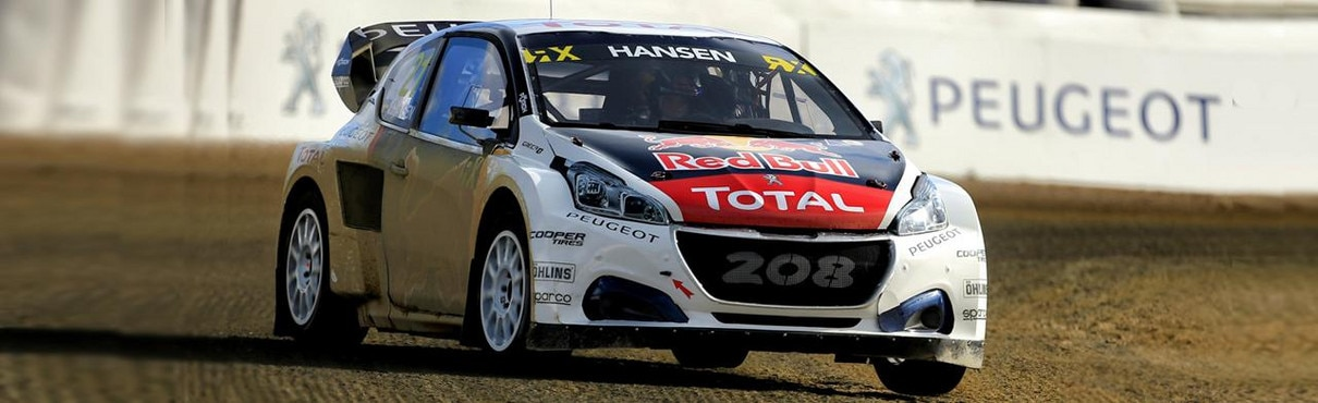 Peugeot 208 WRX on racetrack