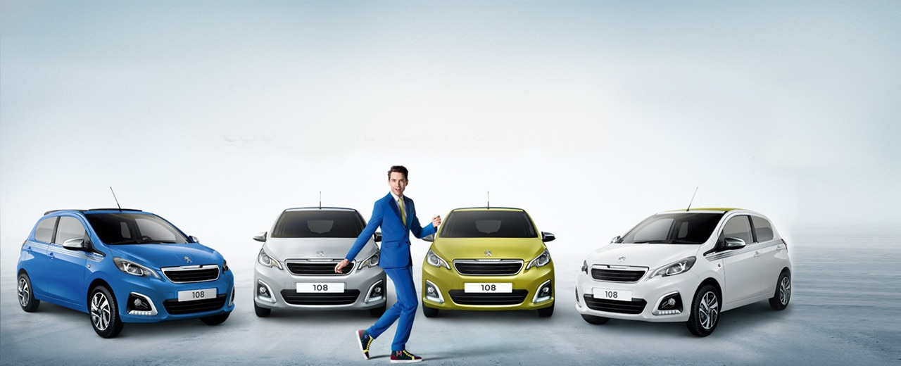 Peugeot 108 Collection Fun City Car Range