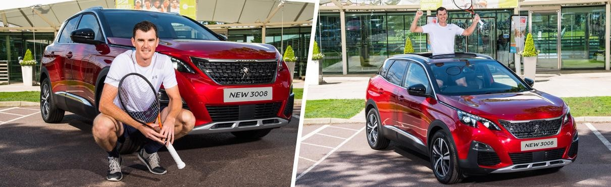 Jamie Murray with the Peugeot 3008 SUV