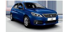 Peugeot 308 5 door blue