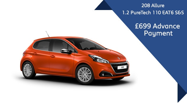 208 Allure automatic Q3 Motability Offer