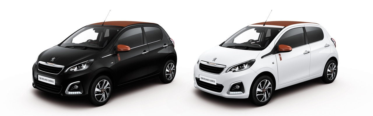 peugeot 108 roland garros colours white black
