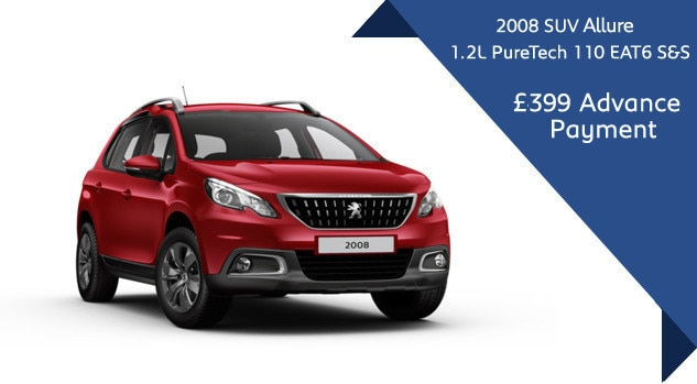 Peugeot 2008 SUV Automatic Motability Offer