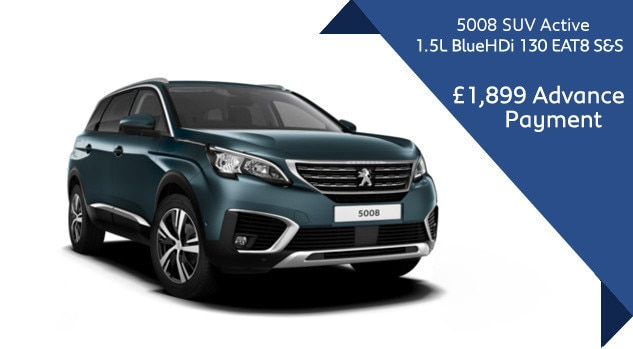 Peugeot 5008 SUV Motability automatic offer