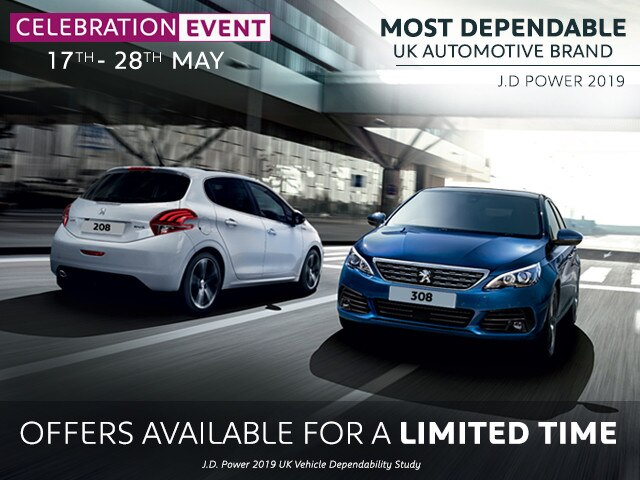Celebration Offers - Peugeot 208 & 308