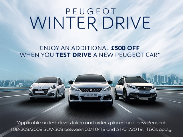 Peugeot Winter 2019 Range Offer - Mobile Version Banner