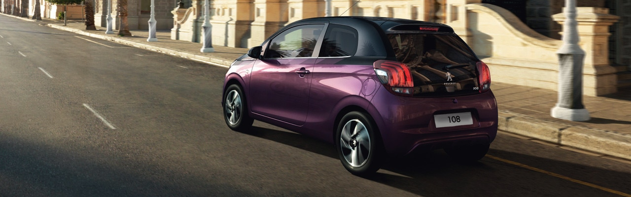 Purple and Black Peugeot 108 Hatchback