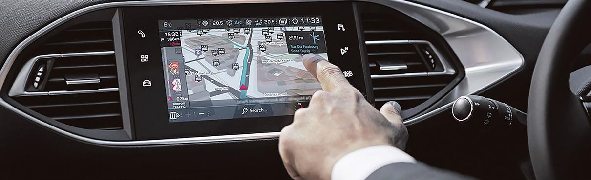 Peugeot UK Map Updates 2008 SUV interior shot