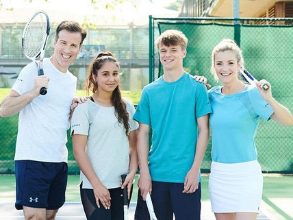 Peugeot Tennis Celebrities - Anton Du Beke and Helen Skelton