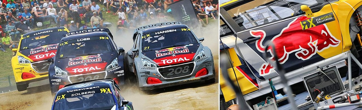 Team Peugeot at Fia World RX