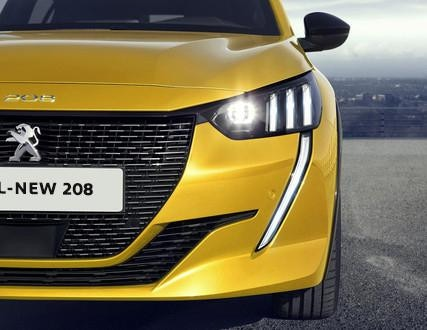 ALL-NEW PEUGEOT 208 – Full LED headlights with 3 claws and LED Daytime Running Lights
