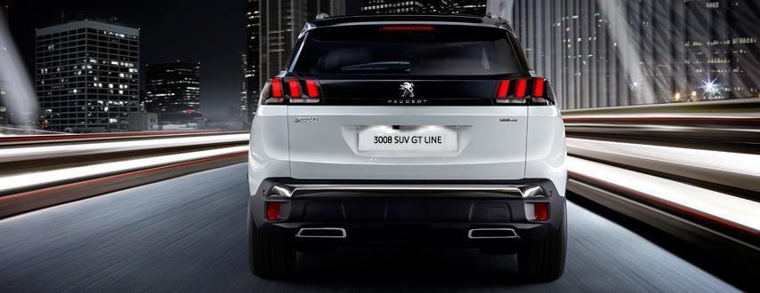 Peugeot new 3008 SUV rear lights