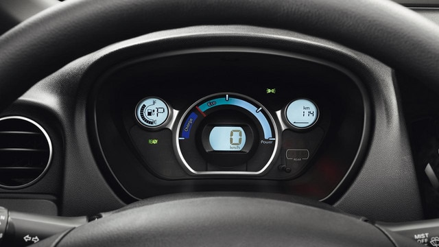 Peugeot iOn dash instruments
