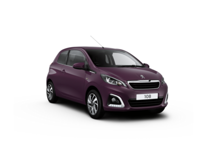 Peugeot 108 with transparent background