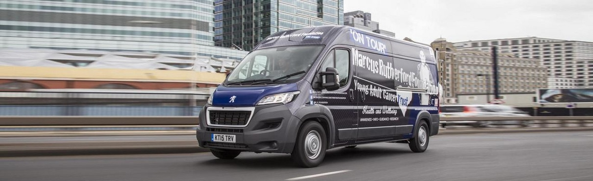 Peugeot Boxer van and the Marcus Rutherford Foundation