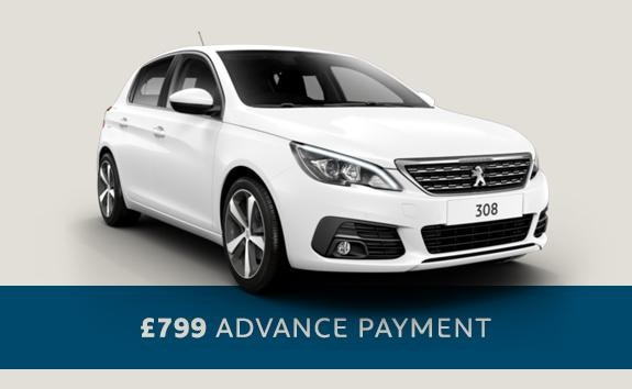 Peugeot 308 Allure - automatic hatchback - Motability offers