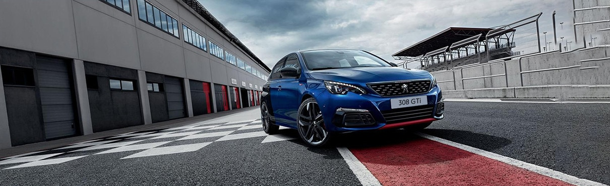 Peugeot 308 GTi red colour range page banner