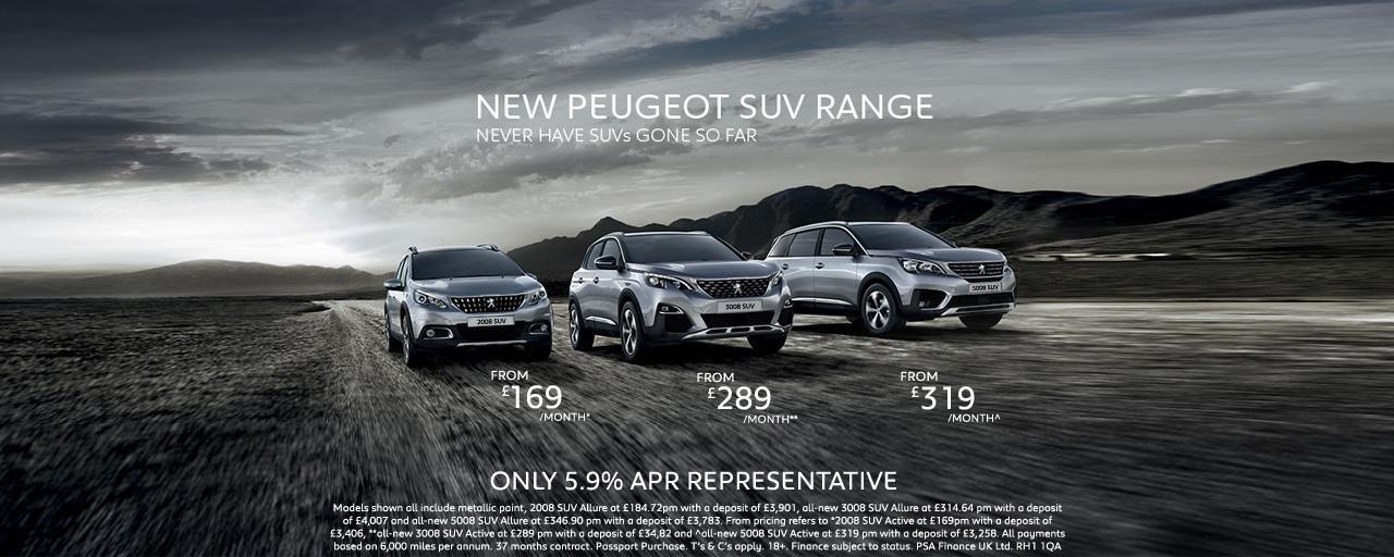 Peugeot UK SUV Range