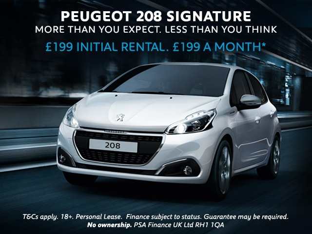 PEUGEOT 208 Signature - Pay Monthly Offer