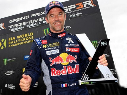 Sebastien Loeb racing for Peugeot in Canada 2017