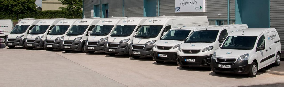 Millbrook Health Care Peugeot Fleet vans