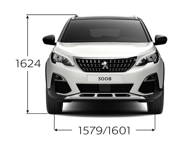 new 3008 suv dimensions