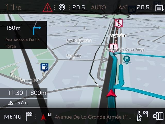 Peugeot CONNECTED 3D NAVIGATION VEHICLES