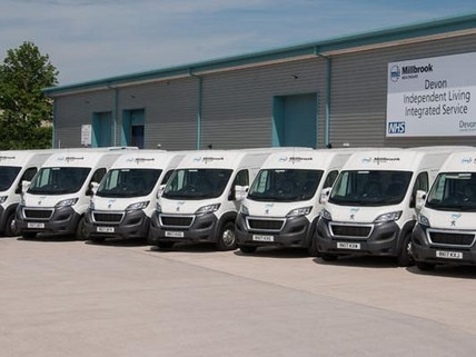 Millbrook Healthcare Peugeot Fleet vans