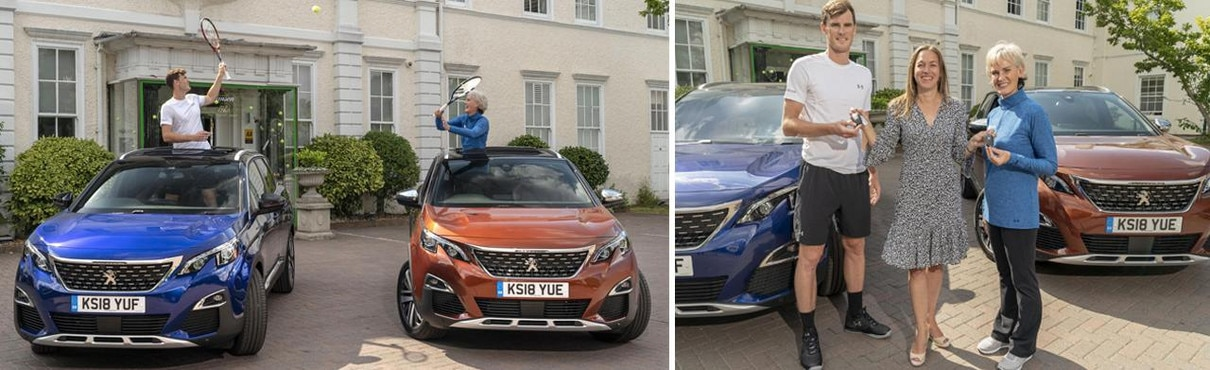 Peugeot 3008 SUV - handover to British Tennis