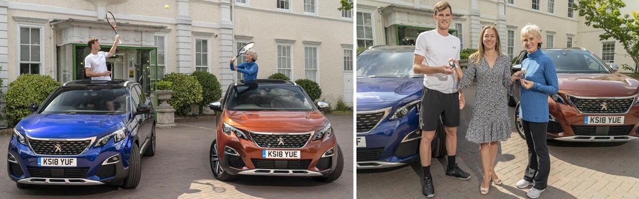 Peugeot 3008 SUV - handover to British Tennis