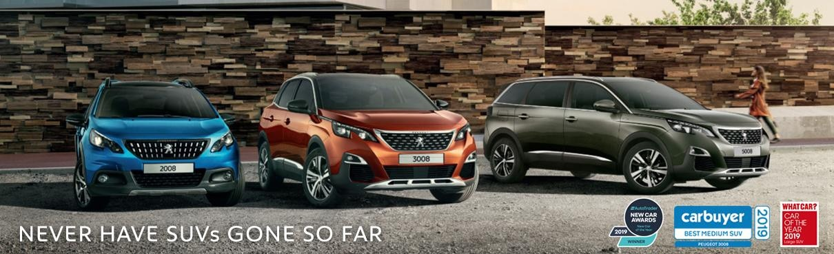 Peugeot SUV Range - Small, Medium and Large SUV
