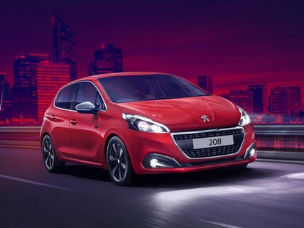 Peugeot 208 City Car red