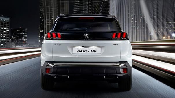 Peugeot 3008 SUV GT Line rear view
