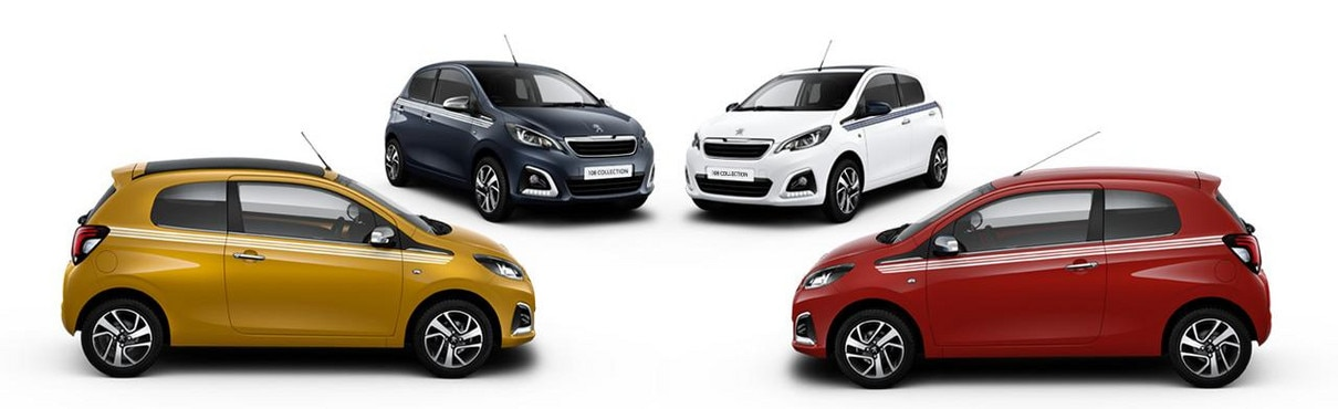 Various colours Peugeot 108