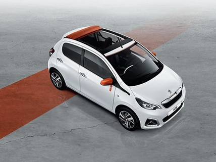 Peugeot 108 special edition on grey background