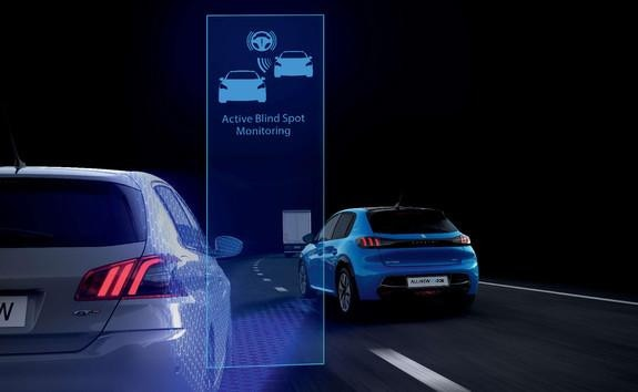 NEW PEUGEOT 208 – Active blind spot monitoring system