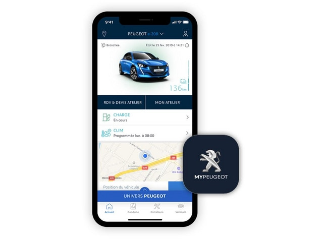 NEW PEUGEOT e-208 – MyPeugeot app