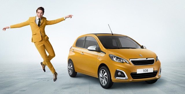 Peugeot 108 Collection yellow