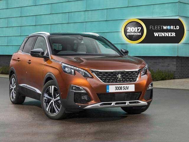 Peugeot 3008 SUV FleetWorld Honours Winner