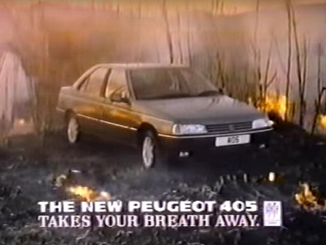 Peugeot 405 advert