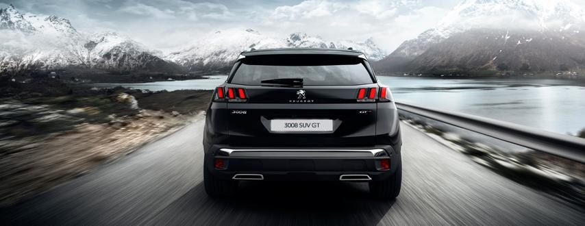 All-new Peugeot 3008 SUV GT Rear