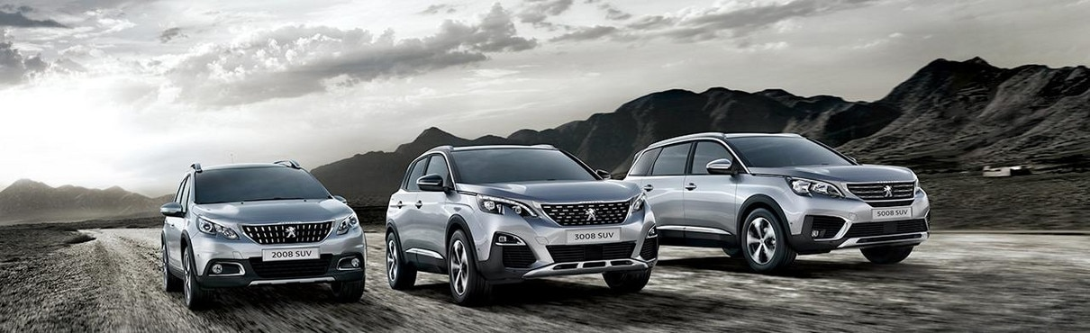 Peugeot 2008, 3008 and 5008