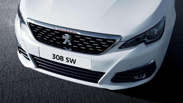 308 SW front grille