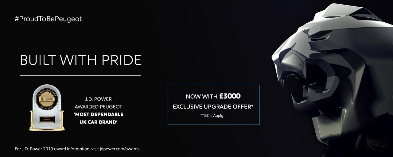 PEUGEOT upgrade offer - JD Power award