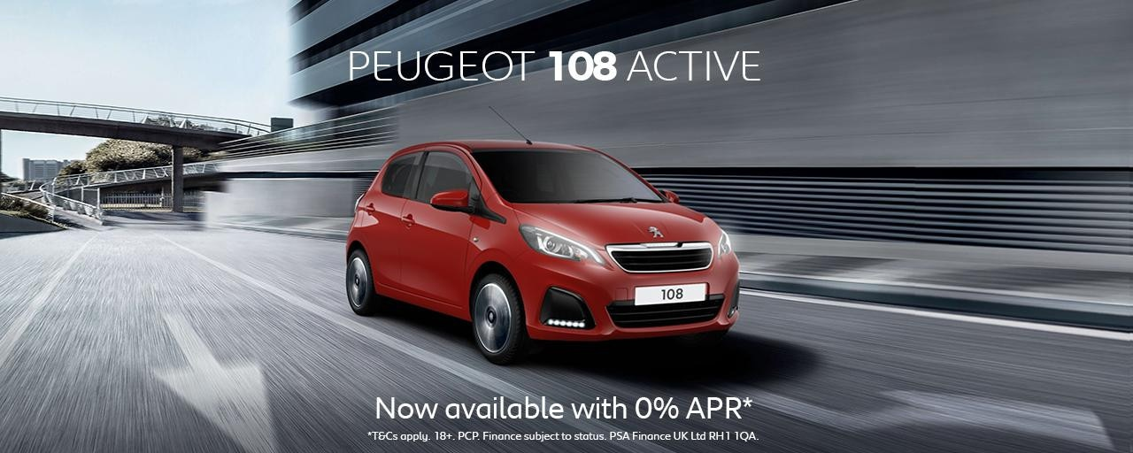 Peugeot 108 Active Homepage