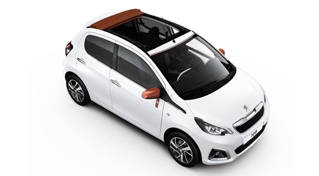 Peugeot 108 RG with open roof