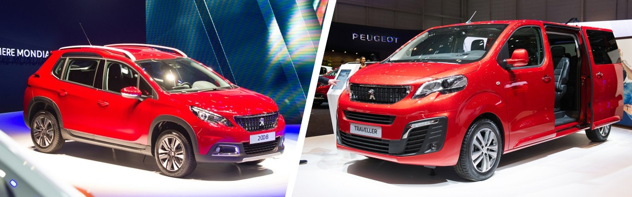 Peugeot 2008 suv and Peugeot Traveller at the geneva motor show