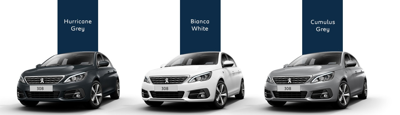 308 Tech Edition 5-door: colours