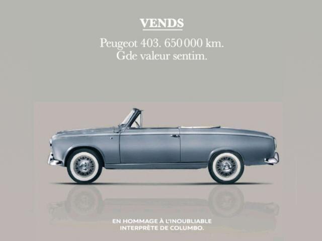 Peugeot Columbo tribute
